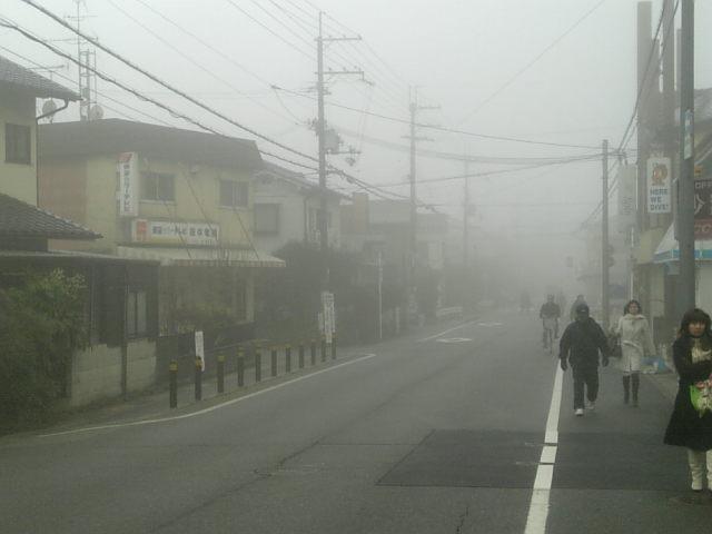 濃霧発生!